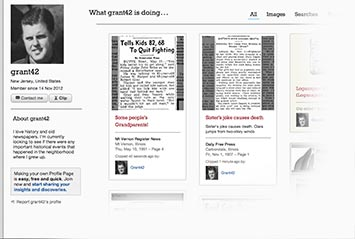 Profile page on North Jersey Archive